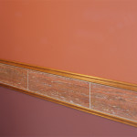 Ekrem Powder Room Chair Rail in Travertine Stone