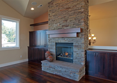 Ekrem Family Room Fireplace with TV Cabinet