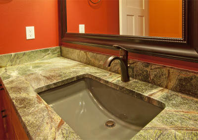 Ekrem 'Man Cave' Bathroom with Rainforest marble countertop