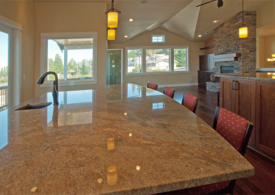 Ekrem countertop of Indian Parana granite